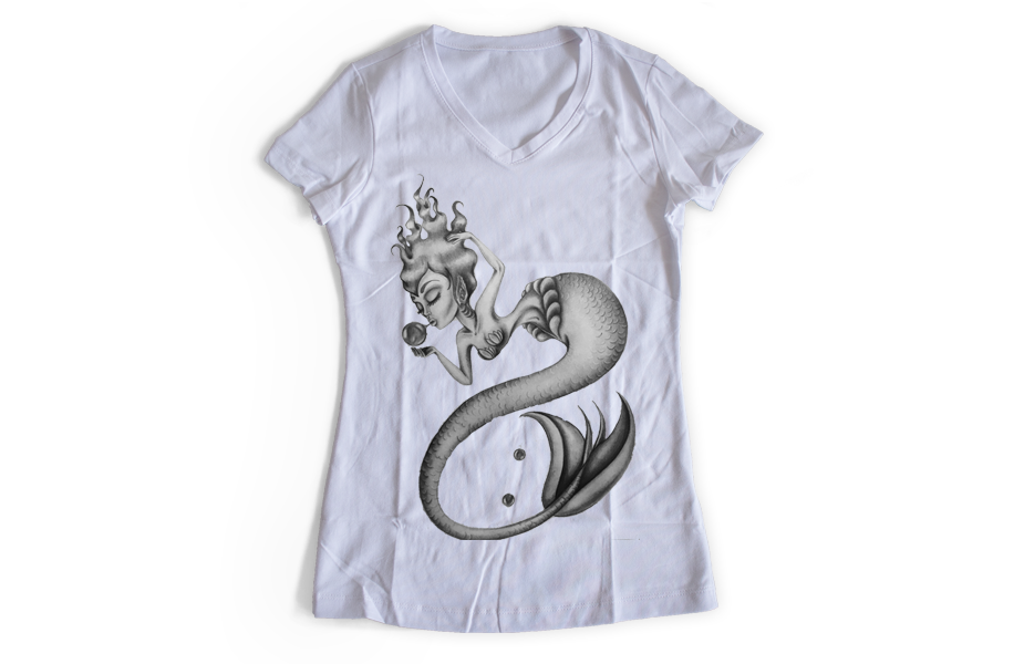Women's V Neck – Mermaid