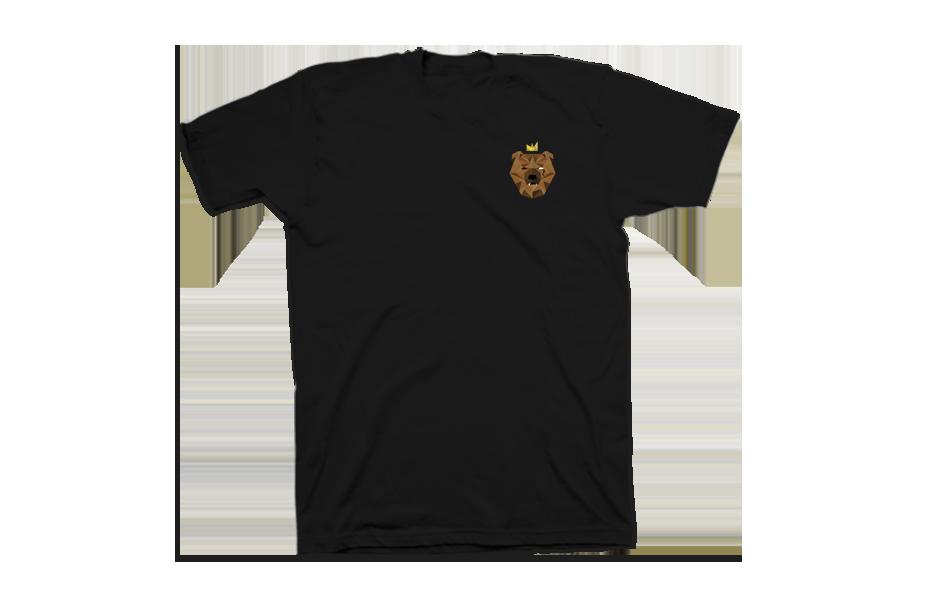 Bearking – Front of Shirt – Black