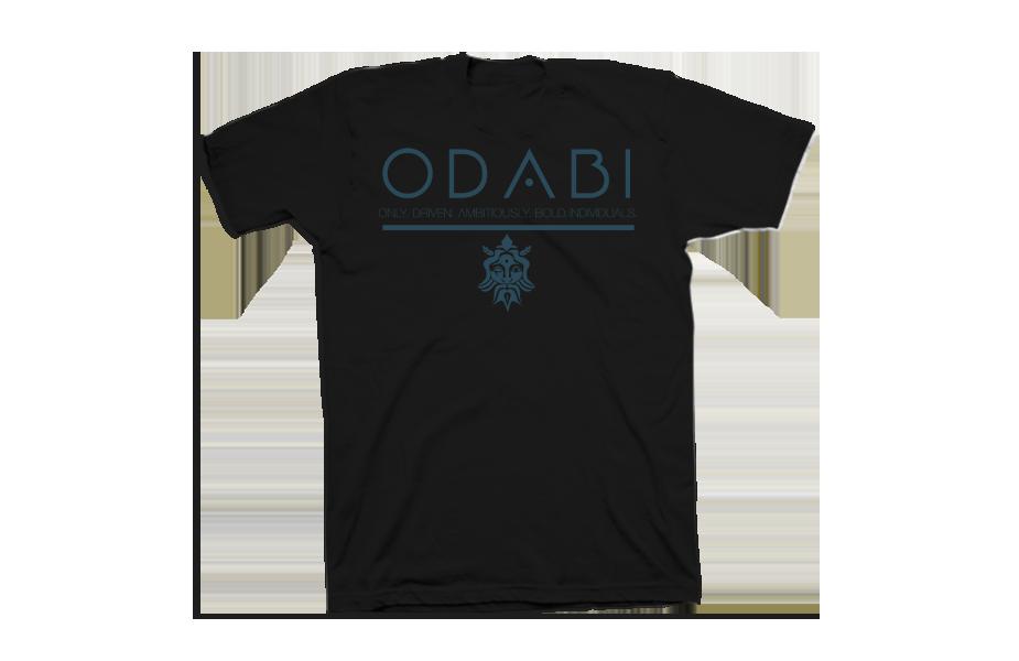 Odabi Tron – Front of Shirt – Black
