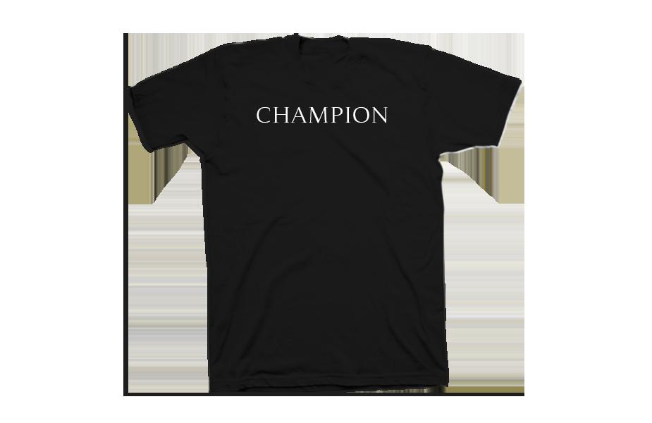 Champion – Front of Shirt